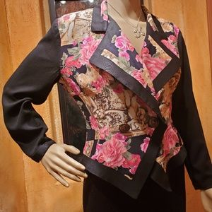 RAMPAGE blouse/jacket/top Women Small Black/floral